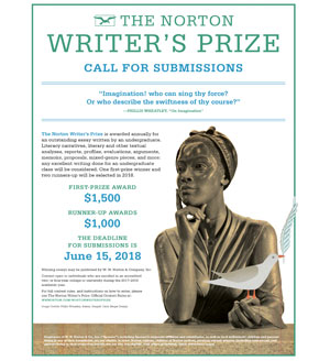Poster image for the Norton Writers Prize
