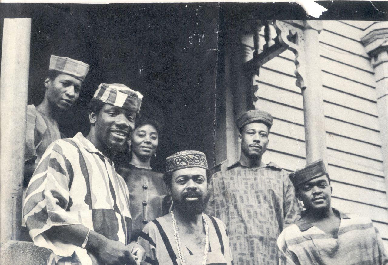 Amiri Baraka and comrades