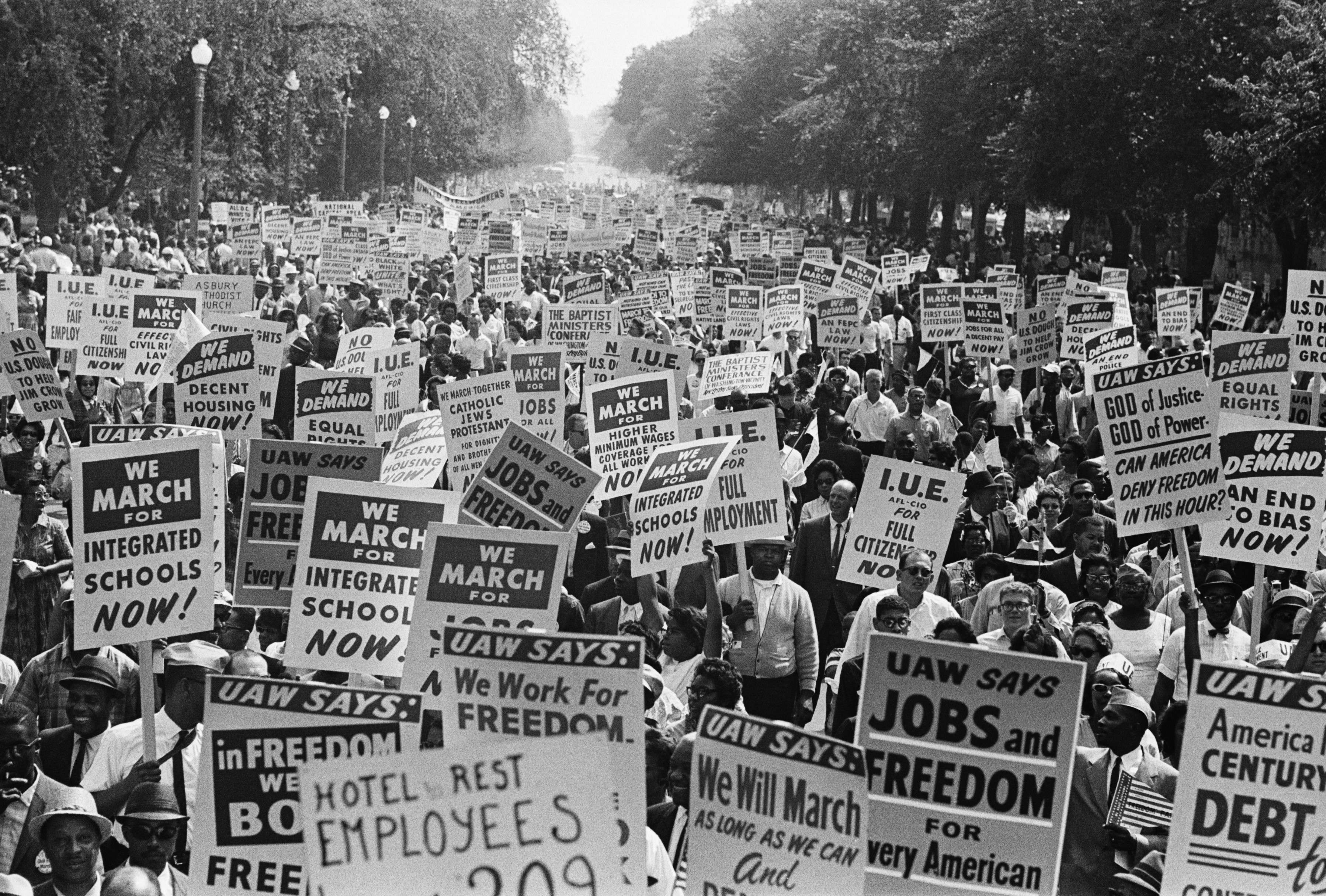 Civil Rights March Signs