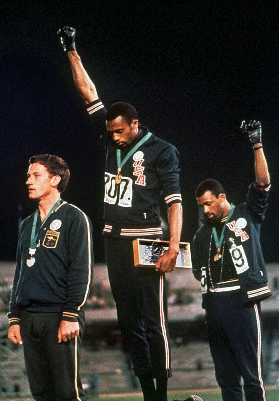 John Carlos and Tommie Smith, 1968 Olympics