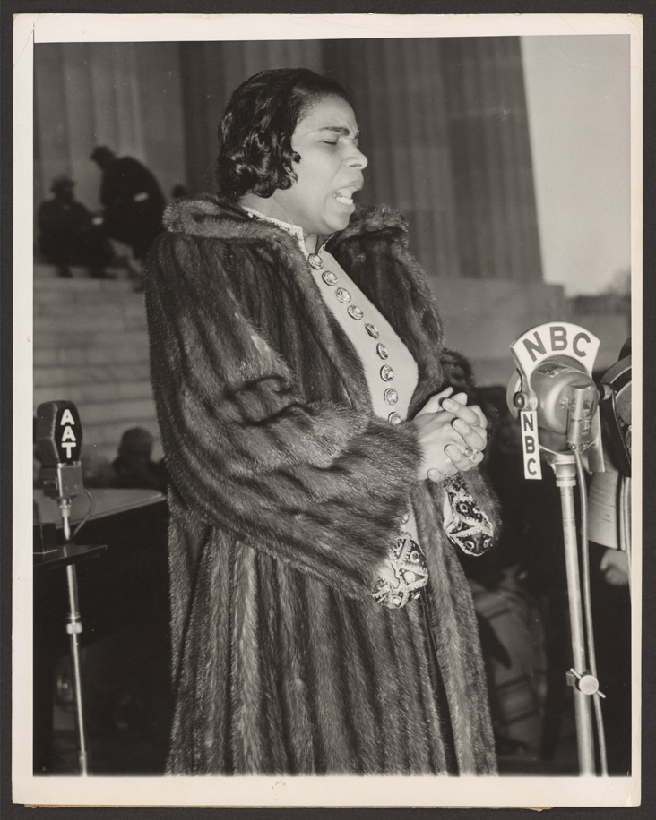 Marian Anderson, singing