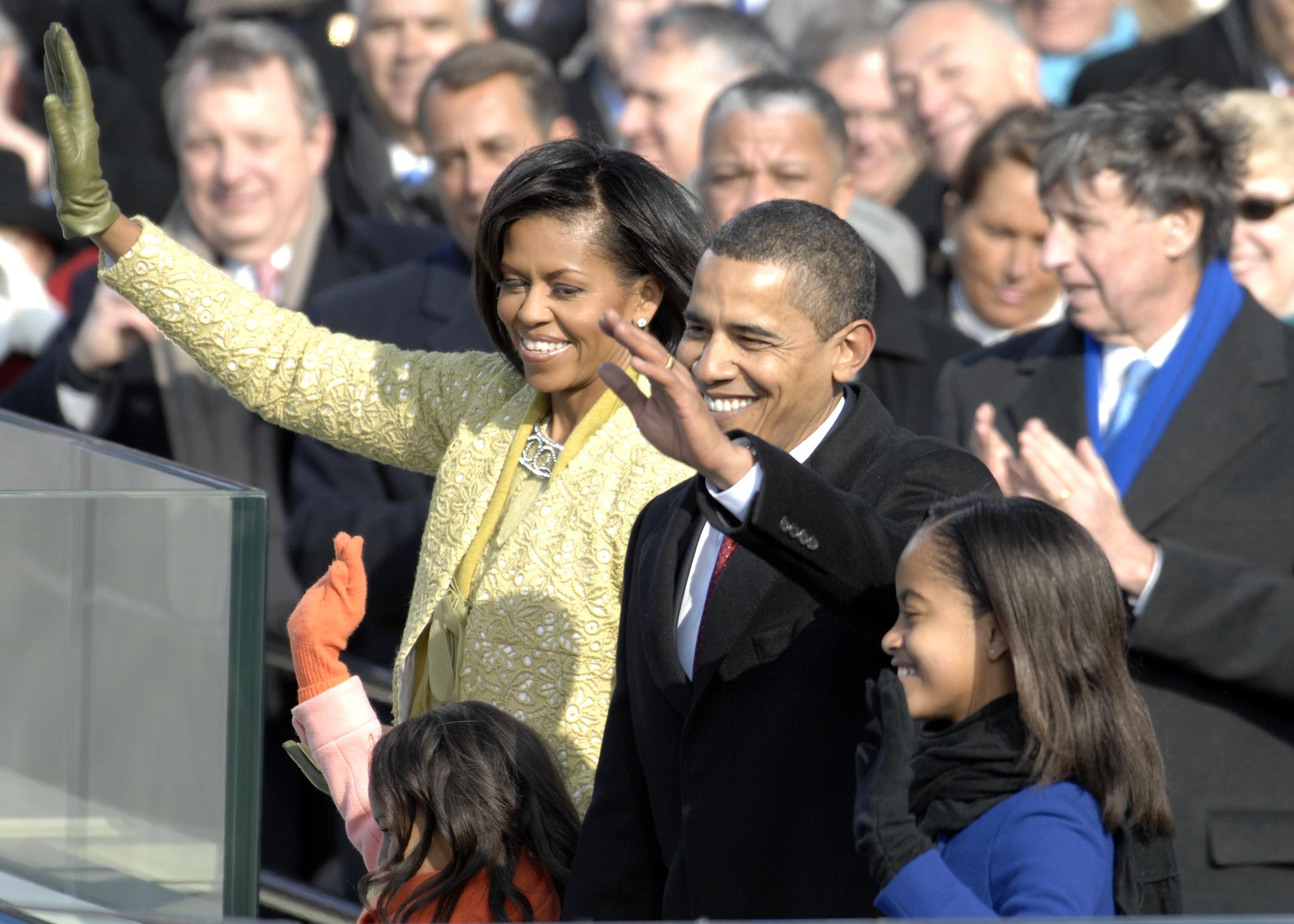 Obama Family at Inauguration
