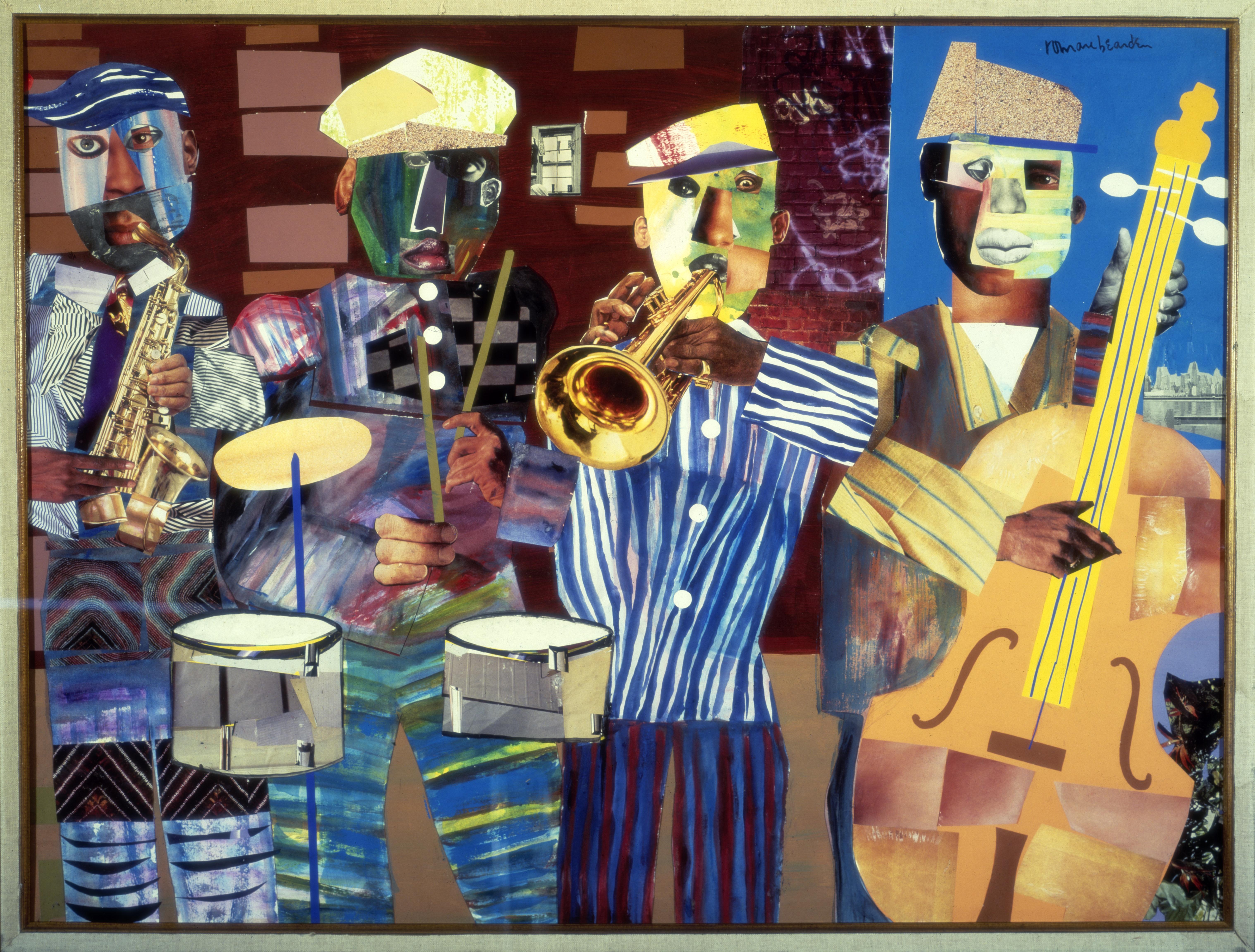 Romare Bearden, Jazz Village