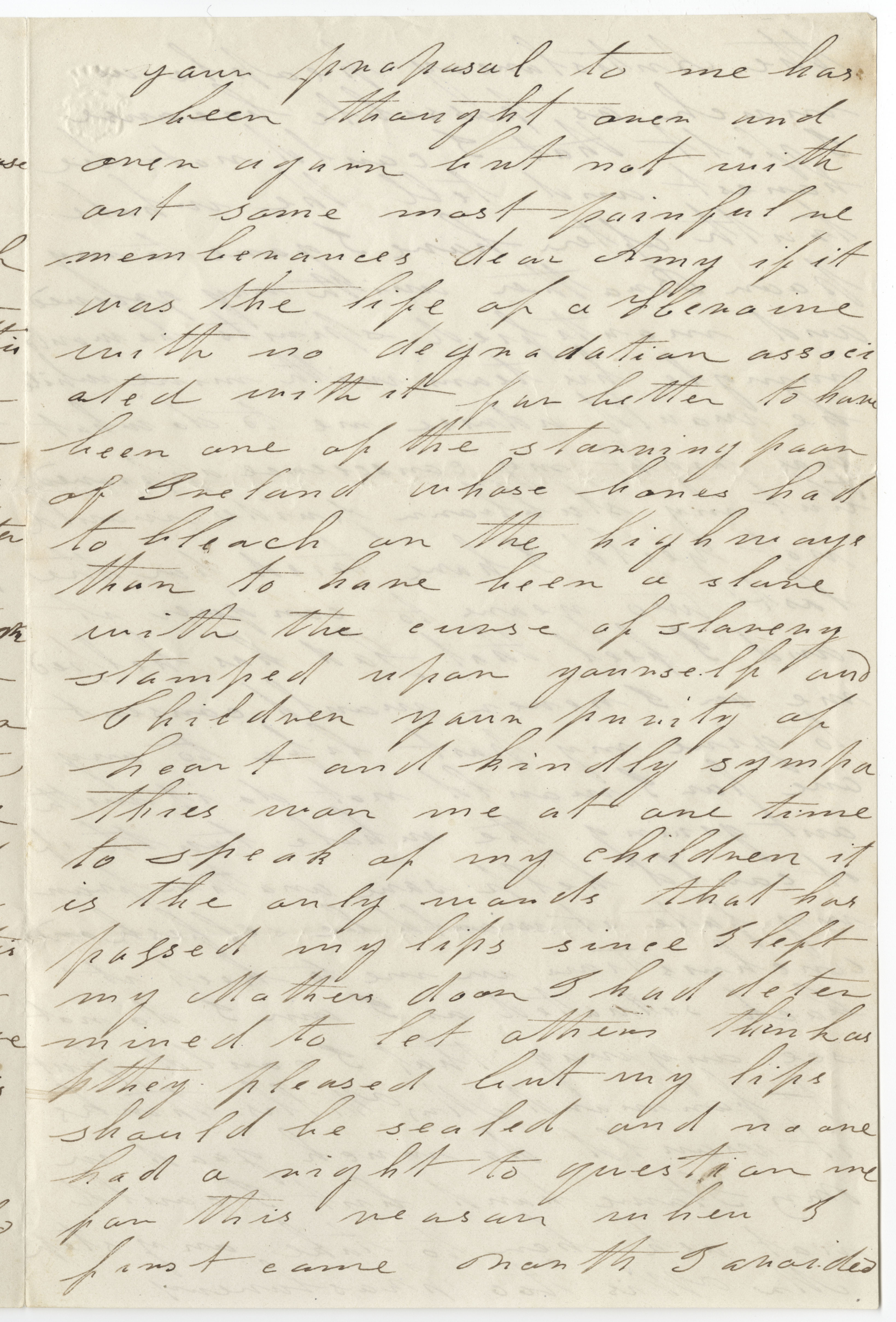 Letter from Harriet Jacobs to Amy Post 1