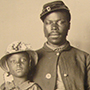 African American Union Soldier with family