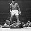 Muhammad Ali triumphant over Sonny Liston (1968).